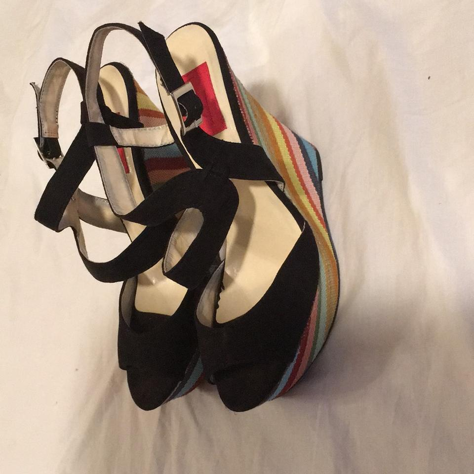 e408ced875 New FRH Colorful Wedges Sandals Multi-colors Wedges Image 11.  123456789101112