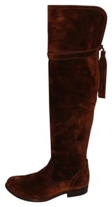 Frye Brown Suede Over the Knee Boots