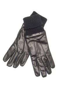 Burberry BRAND NEW Mens Black Lambskin leather gloves