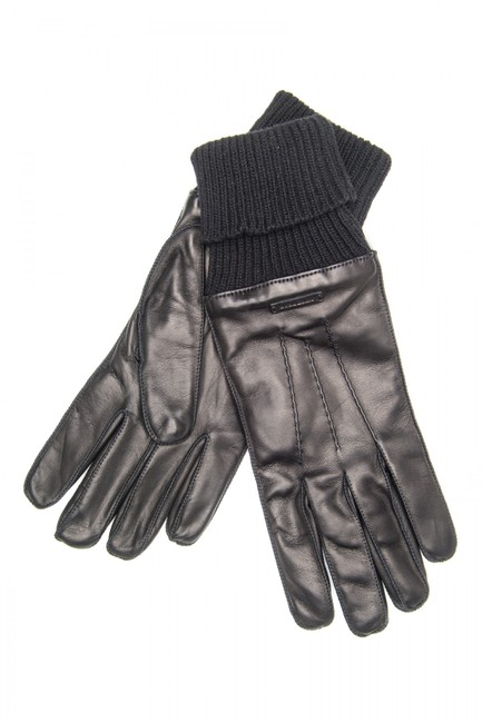 Burberry Black Mens Lambskin Leather Gloves Scarf/Wrap Burberry Black Mens Lambskin Leather Gloves Scarf/Wrap Image 1
