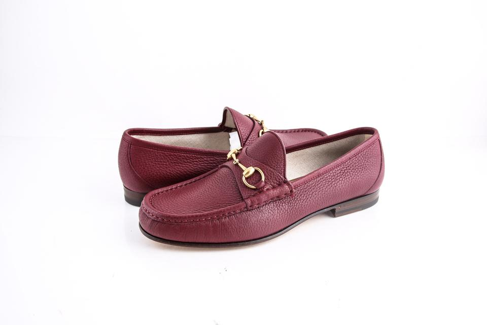 d6a88b7ac01e80 Gucci   Horsebit Loafer Leather Red Shoes - Tradesy