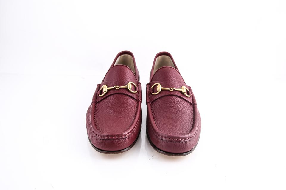 82699e5de624eb Gucci   Horsebit Loafer Leather Red Shoes Image 7. 12345678