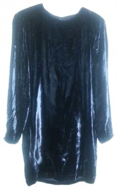 Elizabeth Wayman Black Vintage Velvet Party Above Knee Cocktail Dress Size 4 (S) Elizabeth Wayman Black Vintage Velvet Party Above Knee Cocktail Dress Size 4 (S) Image 1