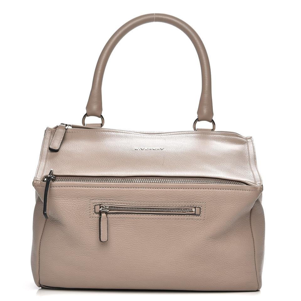 dedc6cf99e Givenchy Shoulder Bag Pandora Medium Mastic Gray Leather Satchel ...