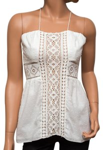 Ingwa Melero Polka Dot Embroidered Needs Cleaning Top White