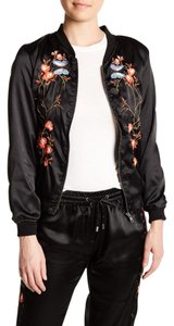 Walter by Walter Baker Embroidered Bomber Black Jacket