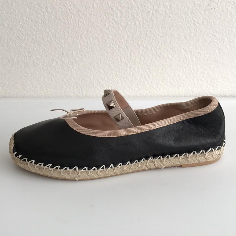 valentino black rockstud espadrille ballerina flats on sale 46 off flats on sale. Black Bedroom Furniture Sets. Home Design Ideas