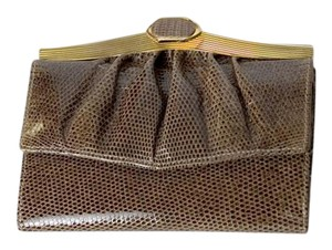 Judith Leiber NEW Snakeskin Leather Wallet with Accordion Change Purse