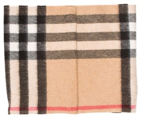 Burberry Beige, black multicolor Burberry Exploded Check plaid snood