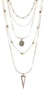 Vince Camuto Multi-Row Bead & Chain Necklace WJN091001