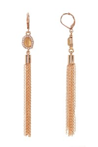 Vince Camuto CZ Tassel Drop Earrings