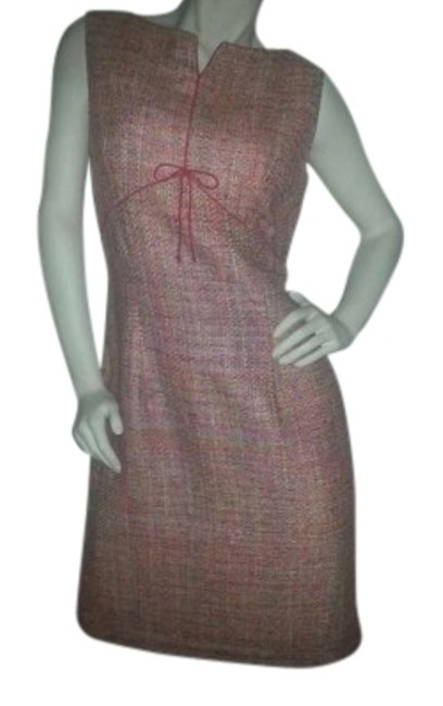 Preload https://item3.tradesy.com/images/donna-morgan-greens-and-orangereds-silk-sheath-above-knee-workoffice-dress-size-12-l-21802-0-1.jpg?width=400&height=650