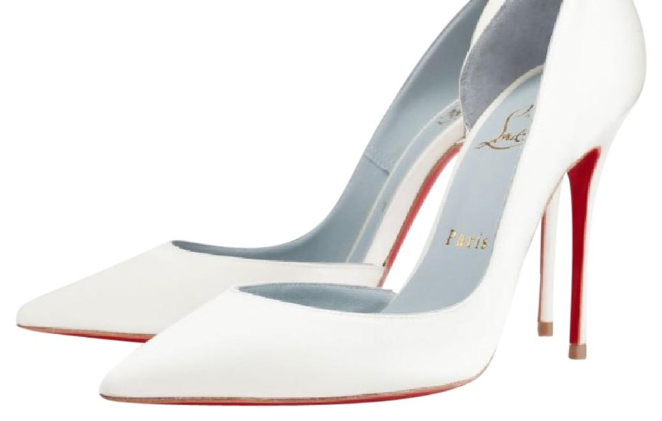 Christian Iriza Louboutin White / Off White Iriza Christian Satin 100 Mm Pumps 79d72e