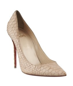 Christian Louboutin Snakeskin Tan Pumps