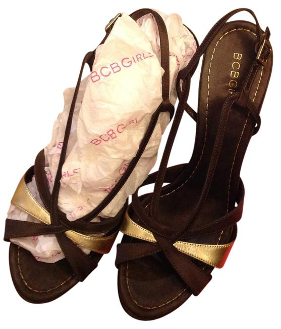 Item - Choco Brown and Gold Zaila-sm Formal Shoes Size US 8 Narrow (Aa, N)