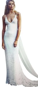 Grace Loves Lace Ivory Hand Sourced Stretch French Lottie Sexy Wedding Dress Size 6 (S)