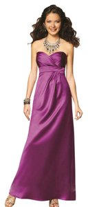 Alfred Angelo Violet Satin 7132 New with Tags Feminine Bridesmaid/Mob Dress Size 12 (L)