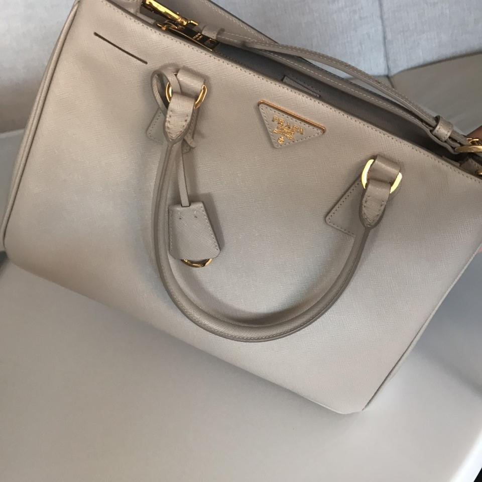 9e6d8645cf1b Prada Gallaria Medium In Argilla Grey (Agrilla) Saffiano Leather ...