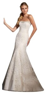 Mori Lee Strapless Bridal Fitted Lace Dress