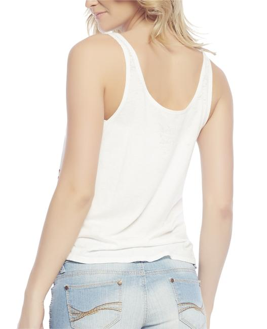 Mighty Fine Burnout Top White