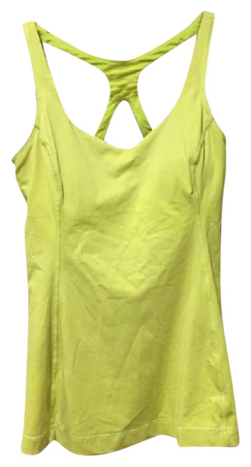 5579953c930b0 Lululemon Neon Yellow Athletic Tank Top Cami Size 6 (S) - Tradesy
