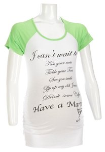 Belly by Design Can't Wait Maternity Baseball T-Shirt - Size L