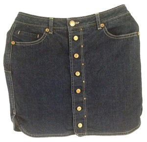 Mango Jeans Denim Mini Mini Skirt Blue Denim