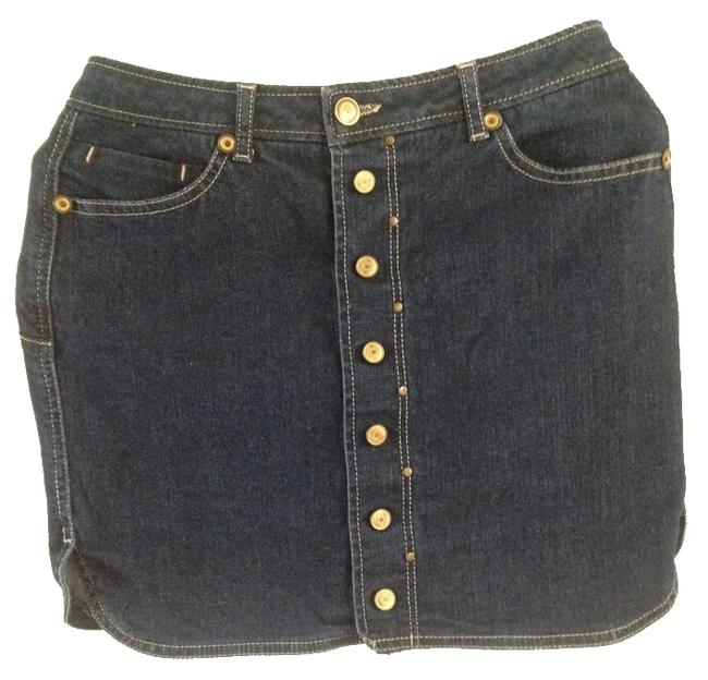 Mango Jeans Mini Skirt Blue Denim