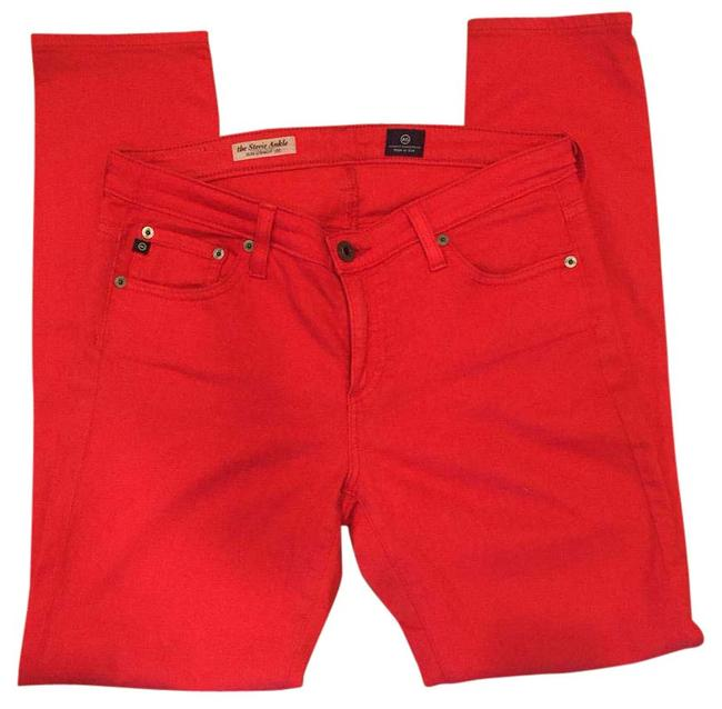 Item - Red Stevie Ankle Straight Leg Jeans Size 28 (4, S)