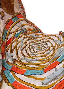 Herms Multicolor Silk Scarf Reves D'Espace