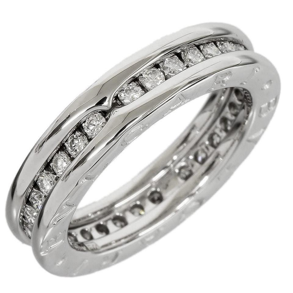 large ring half bands cubic white gold zirconia yellow p context band eternity