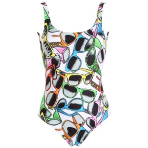 Moschino Sunglasses All Over One Piece Swimsuit