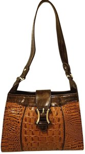 Marc Chantal Refurbished Croc Leather Lined Shoulder Bag