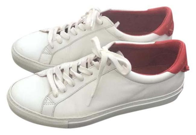 Item - White with Red Back Leather Low-top Sneakers Size US 9.5 Regular (M, B)