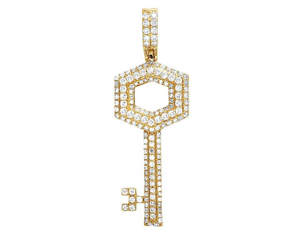Jewelry unlimited 14k yellow gold mens real diamond key pendant 11 jewelry unlimited 14k yellow gold mens real diamond key pendant 11 ct 175 charm mozeypictures Image collections