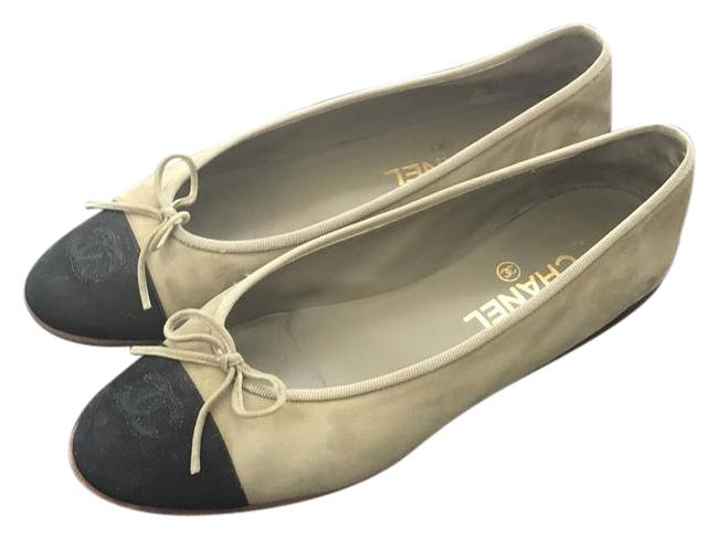 Item - Olive Green with Black Suede Toe Suede Flats Size US 9.5 Narrow (Aa, N)