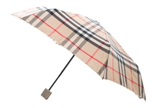 Burberry Beige, black multicolor nylon Burberry Nova Check umbrella
