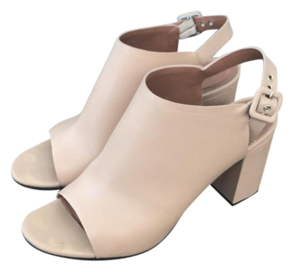 af4cf34798 Givenchy Nude Leather 3 Inch Chunky Heel Pumps Size US 9 Regular (M ...