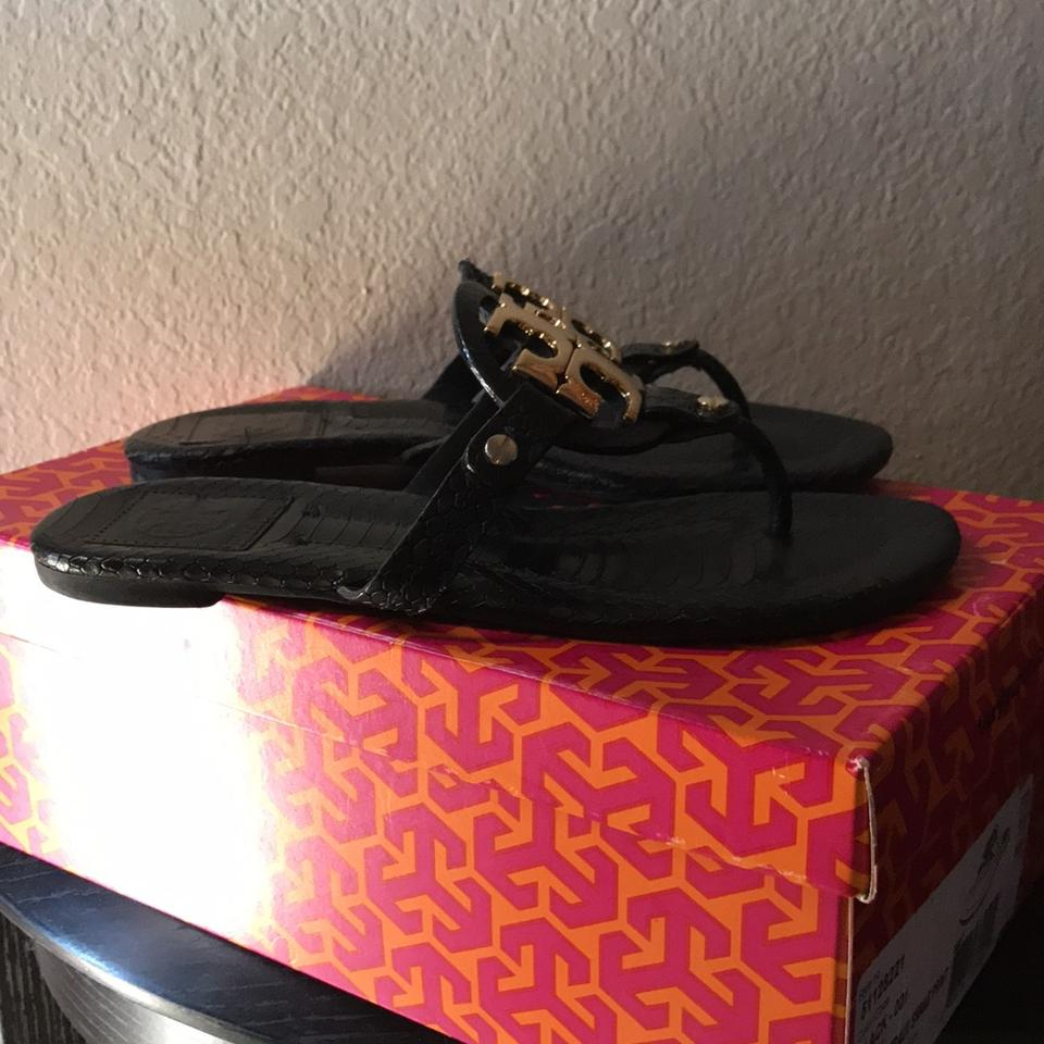 a1bb23e5d5f5 Tory Burch Black with Gold Hardware Miller 2