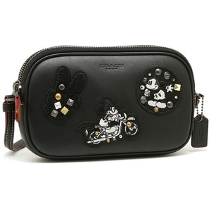 Coach Leather Limited Edition X Disney Mickey Mouse Studded Cross Body Bag