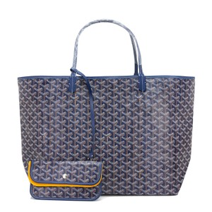 Goyard St Louis Gm Navy St Louis St Louis Marine St Louis Tote in Blue