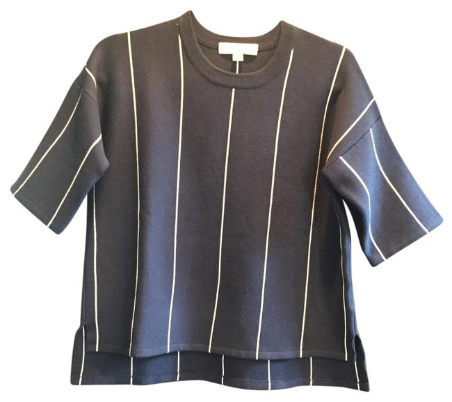 Item - Navy Blue and White Stripe Sweater