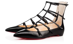 Christian Louboutin Toerless Muse Caged Black Flats