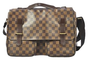 Louis Vuitton Monogram Leather Rare Unisex Damier Canvas Brown Messenger Bag