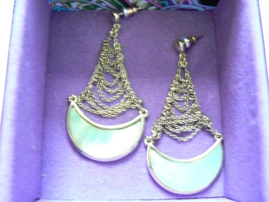 Preload https://img-static.tradesy.com/item/2180794/pale-green-gold-tone-half-moon-dangle-earrings-0-0-540-540.jpg