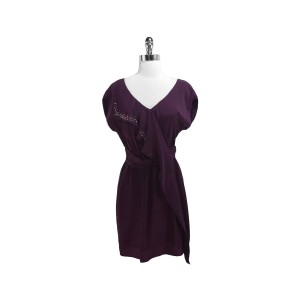 Graham & Spencer short dress Plum Silk With Studs on Tradesy