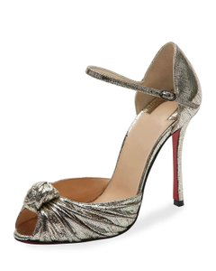 Christian Louboutin GOLD AND BLACK Sandals