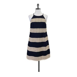 Lilly Pulitzer short dress Navy With Gold Embroidery Annabelle Shift on Tradesy
