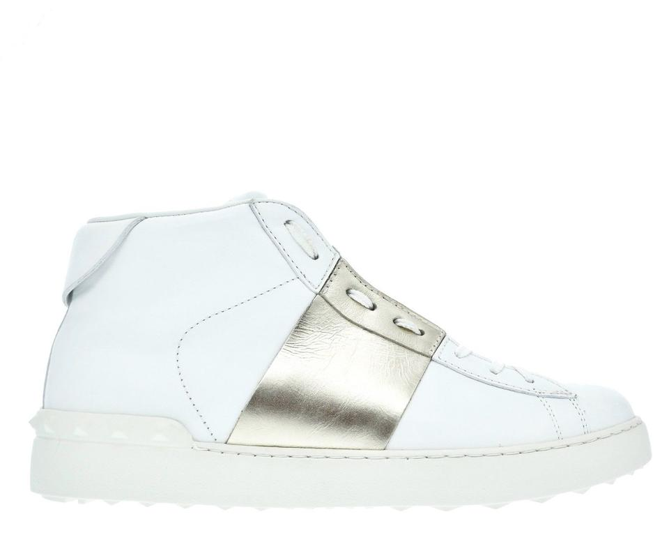 ce1c46bac218 Valentino White Men s Rockstud Open Sneakers Size US 9.5 Regular (M ...