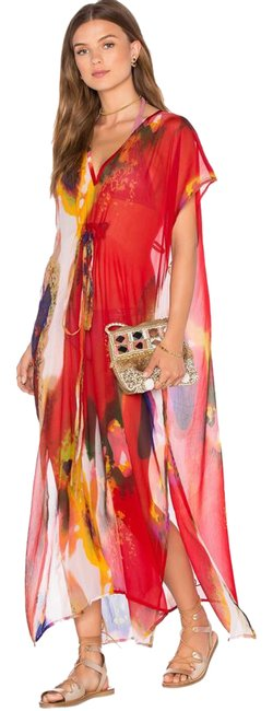 Item - Red Garden Pastels In Samba Cover-up/Sarong Size OS (one size)